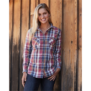 Weatherproof Vintage Ladies' Plaid Long Sleeve Shirt
