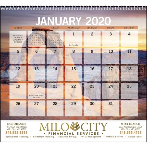 2020 Calendars Buy Scenic Small Memo 2020 Calendar | Red Oak Branded Solutions